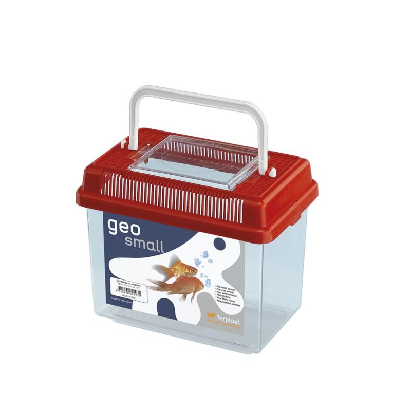 Ferplast Geo Small mini akvárium, szállító (piros)